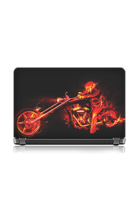 Bike Rider Laptop Skin