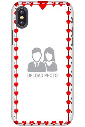 3D - Apple iPhone X Heart Valentine's Day Mobile Cover