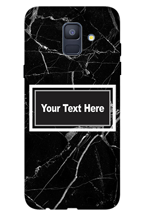 Personalised 3D-Samsung Galaxy A6 (2018) Broken Glass Mobile Cover