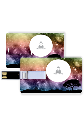 Starry Colorful Sky Plastic Credit Card Pen Drive