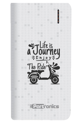 Life is Journey Customized 8000mAh Portronics Power Bank White