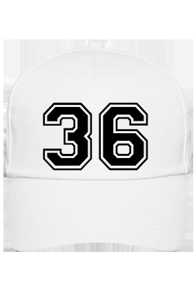 Trendy 36 Cotton White Cap