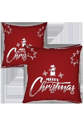 Little Snowman Merry Christmas Cushion Cover