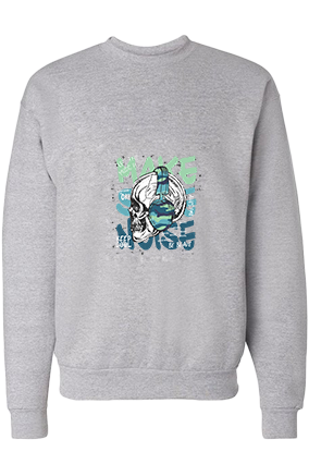 Make Some Noise Cotton Gray Sweatshirt