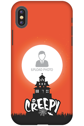 Personalized 3D-Apple iPhone X Creepy Halloween Plastic Mobile Cover