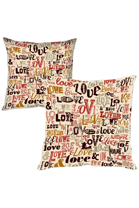 Designer Love Printed Cushion Cover