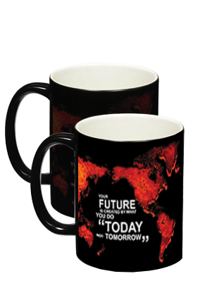 Black Global Magic Mug