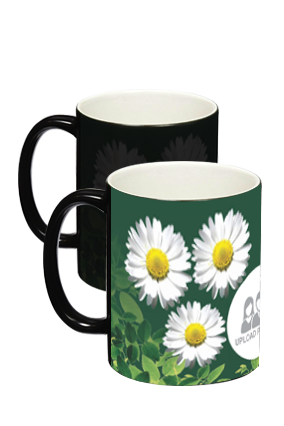 Black Sunflower Magic Mug