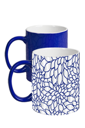 Blue Floral Magic Mug