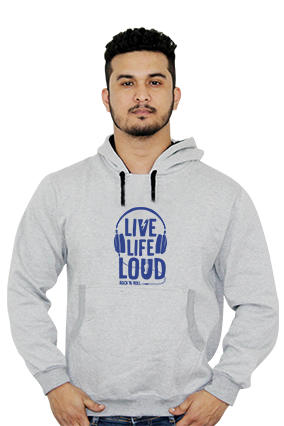 Customized Live Life Loud Full Sleeves Hoodie