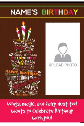 Cake Birthday Invitation Card
