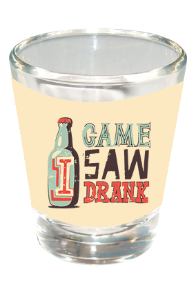 Game Saw Drank Funky Shot Glass