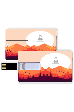 Mountain Plastic Credit Card Pen Drive