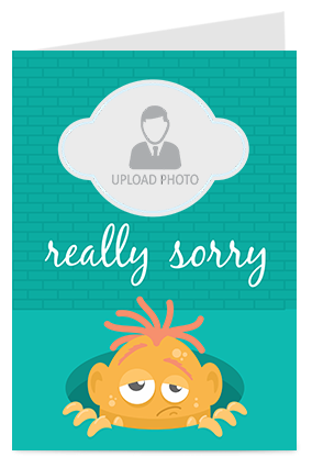 Really Sorry Greeting Card
