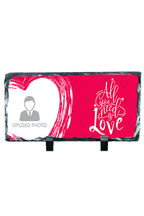 All You Need is Love Valentine Rectangular Photo Rock