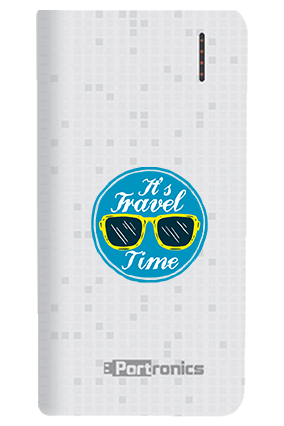 It is Travel Time Customized 8000mAh Portronics Power Bank White