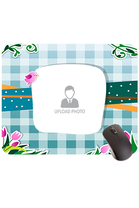 Flowers and Leaves Rectangular Mouse Pad