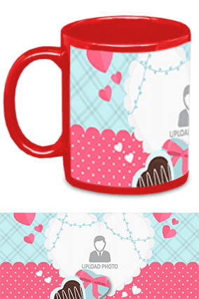 Awesome Valentine's Day Red Patch Mug