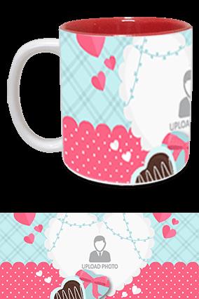 Awesome Valentine's Day Inside Red Mug