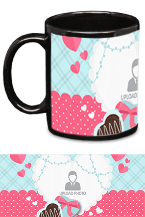 Awesome Valentine's Day Black Patch Mug