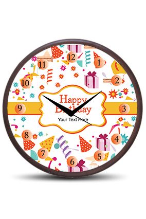 Birthday Wishes Wooden Wall Clock