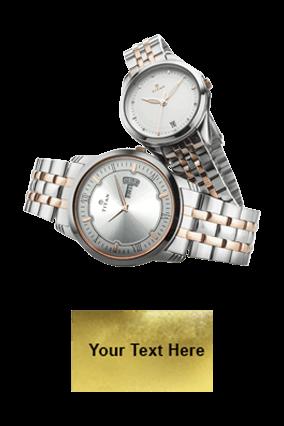 Titan Rosegold Bimetal Day Date Function Wrist Watch
