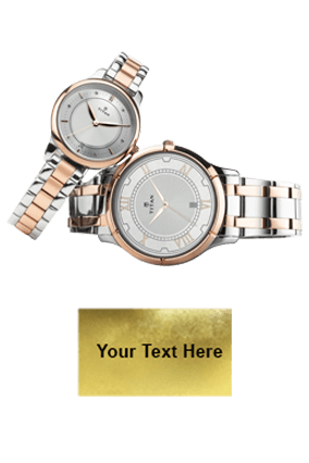 Titan Bimetal Rosegold Date Function Wrist Watch