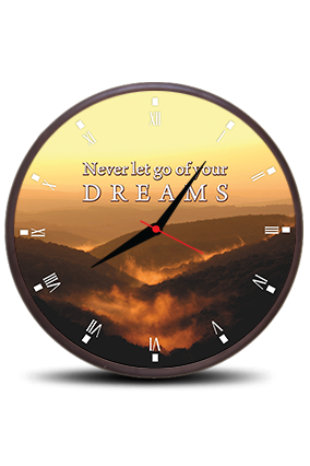 Bright Theme Round Clock With Frame