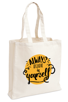 Believe In Yourself Imported Canvas Tote Bag