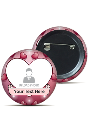 Personalized Heart Round Badge