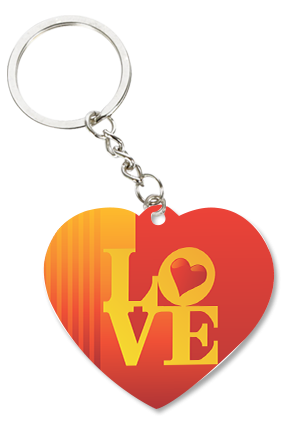 Ardent Love Personalized Valentine Heart Key Chain