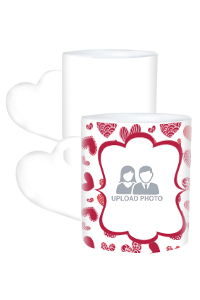 Someone Special Valentine Day Heart Handle White Coffee Mug