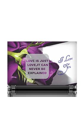 Mauve Floral Laptop Skin