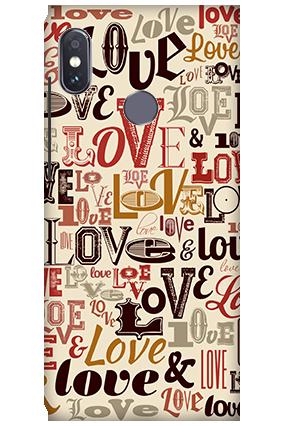 3D-Xiaomi Redmi Note 5 Pro Designer Love Mobile Cover