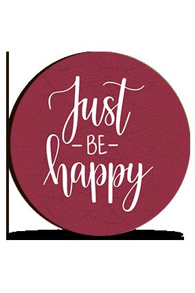Just Be Happy Valentine Round Photo Magnet