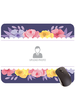 Colorful Flowers Rectangular Mouse Pad