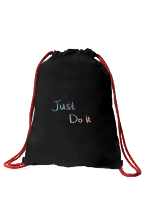 Just Do It Designer Black Sack Bag
