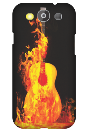 Printed Samsung Galaxy S3 Neo Fired Guitar Mobile Cover