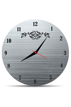 Blackish Grey Round MDF Clock
