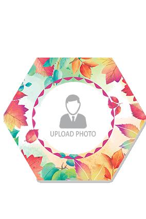 Colorful Leaves Hexa Printed Coaster