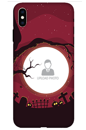 3D-Apple iPhone XS Max Halloween Plastic Mobile Cover
