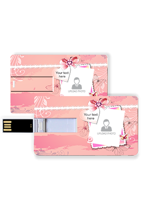 Baby Pink Plastic Credit Card Pen Drive