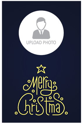 Amazing Navy Blue Merry Christmas Poster
