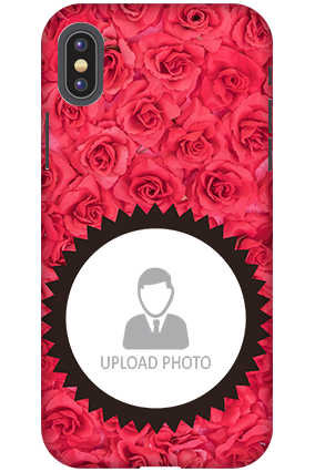 Personalized 3D-Apple iPhone X Personalized Roses Mobile Cover