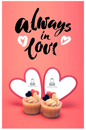 Always in Love Personalized Valentine Poster