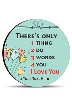 Only Thing To Love You Valentine Round Photo Magnet