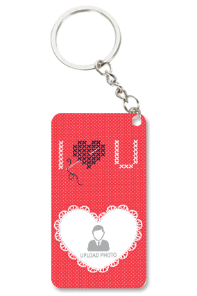 Beautiful Heart Trendy Valentine Small Rectangle Key Chain