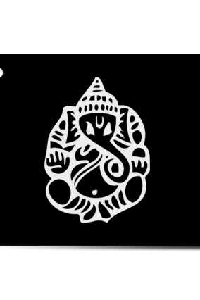 Ganesha Grace Home Acrylic Nameplate (12 x 5 Inches)