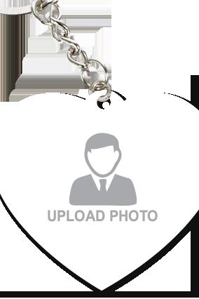 Upload Your Photo Heart Shape Key Chain