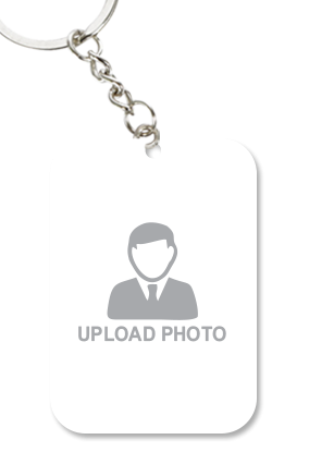 Upload Photo Big Rectangle Key Chain